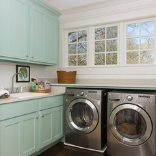Transitional Laundry Room by Colordrunk Designs