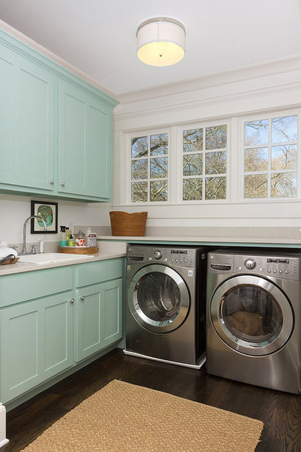 Traditional Laundry Room by Colordrunk Designs
