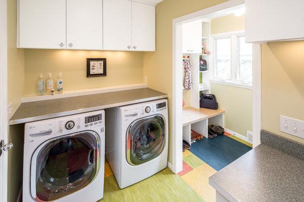 Midcentury Laundry Room by Bluestem Construction