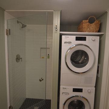 Compact bath/laundry