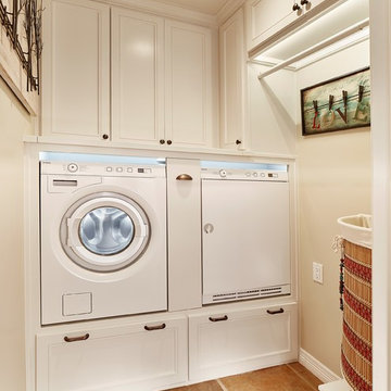Compact Southwest Laundry Room in Dallas Area