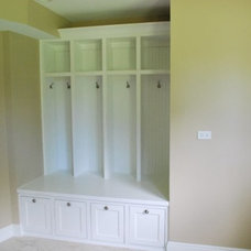 Farmhouse Laundry Room by Coda Design + Build