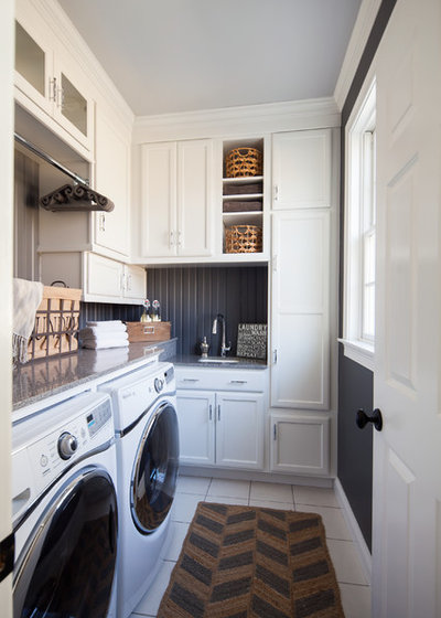 Traditional Laundry Room by Hartley and Hill Design