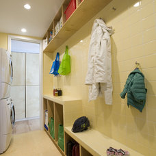 Modern Laundry Room by McMillan Builders