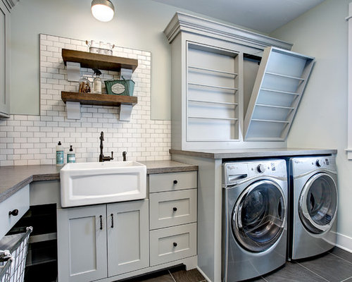 Laundry room design ideas remodels photos with gray - Laundry room cabinet ideas ...
