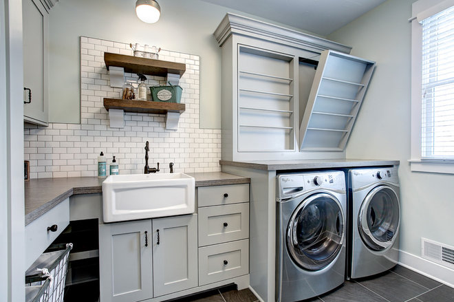 Transitional Laundry Room by CVI Design - Carly Visser