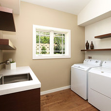 Contemporary Laundry Room by LIFESTYLE KITCHENS by The Kitchen Lady