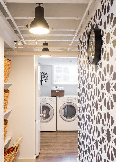 Contemporary Service Yard Contemporary Laundry Room