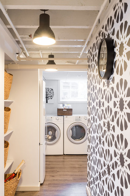 Contemporary Laundry Room by Justine Sterling Design