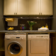 Contemporary Laundry Room by Laura Potter Designs
