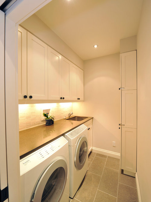 Countertop Materials For Laundry Room : ... Contemporary Laundry Room Design Photos with Solid Surface Countertops