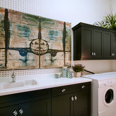 Contemporary Laundry Room by Romanza Interior Design