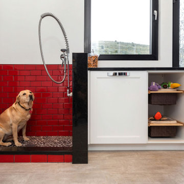 Laundry Room with Grooming Station