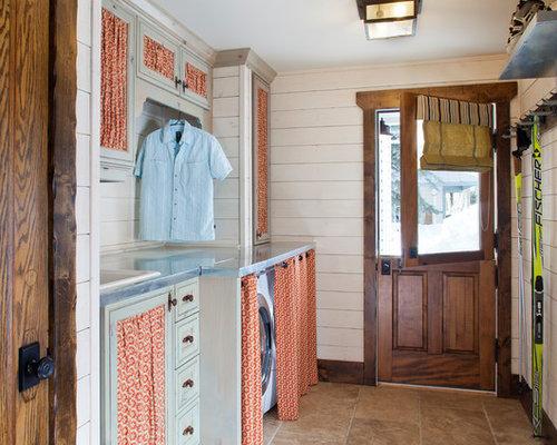 Fabric Print Laundry Room Design Ideas, Remodels & Photos