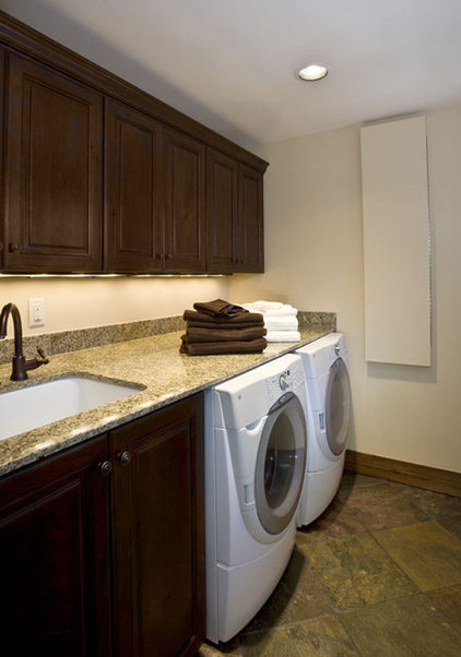 Traditional Laundry Room by Monique Jacqueline Design