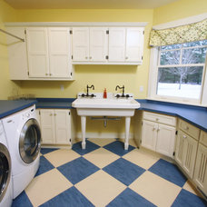 Traditional Laundry Room by Zahn Builders Inc.