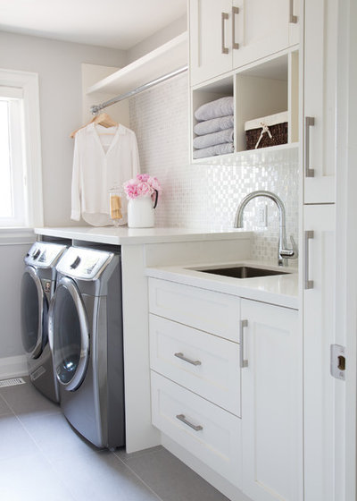 Transitional Laundry Room by barlow reid design