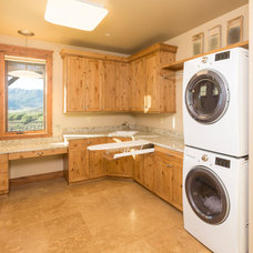 Rustic Laundry Room by Amaron Folkestad GC Steamboats Builder