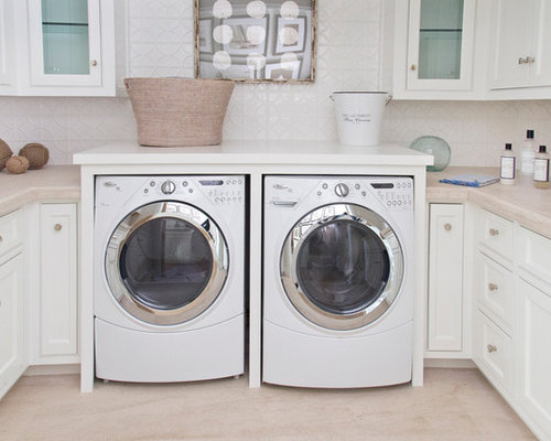 Washer and dryer counter home design ideas pictures for Under cabinet washer and dryer