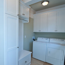 Craftsman Laundry Room by Heirloom Design Build