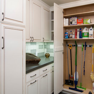 This is an example of an arts and crafts laundry room in San Francisco.