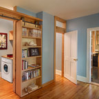 Library Transitional Home Office New York By