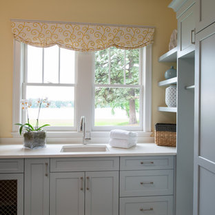 75 Most Popular Gray Laundry Room With Yellow Walls Design Ideas For