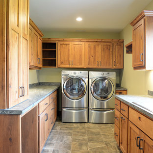 Crystal Cabinets- Traditional Rustic Laundry