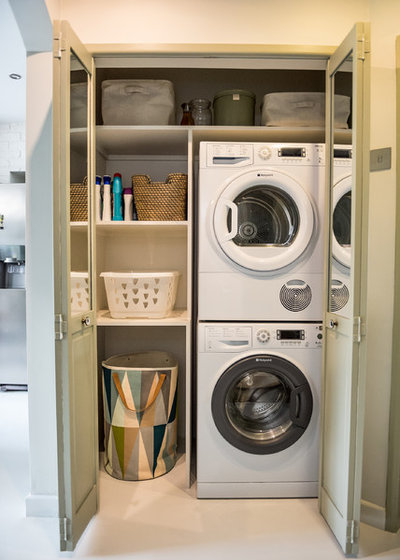 Eclectic Laundry Room by Emilie Fournet Interiors