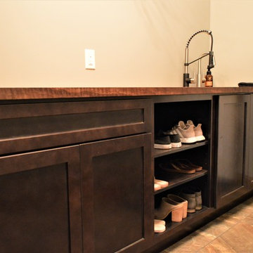 Culver, IN. Haas Cabinetry. Modern/Rustic Inspired Kitchen, Laundry, and Baths