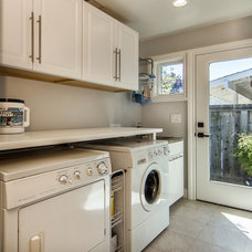 Transitional Laundry Room by Studio S Squared Architecture, Inc.
