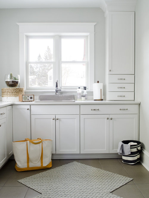 Interior Aristokraft Cabinet Dealers aristokraft cabinets houzz large transitional l shaped ceramic floor utility room photo in other with shaker cabinets