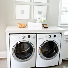 Transitional Laundry Room by MasterBrand Cabinets, Inc.