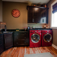 Traditional Laundry Room by Jim Tibbe Homes