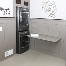 Transitional Laundry Room by Atlanta Tile Contractor Inc.