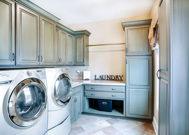 Traditional Laundry Room by John Hall Custom Homes
