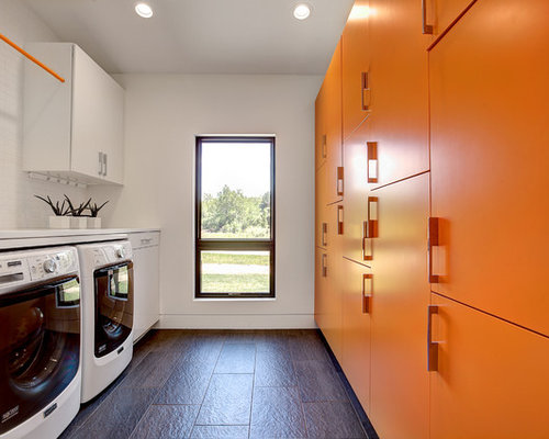 Best Long Narrow Room Laundry Room Design Ideas & Remodel Pictures | Houzz