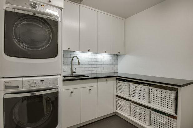 Scandinavian Laundry Room by Thomas Development + Construction