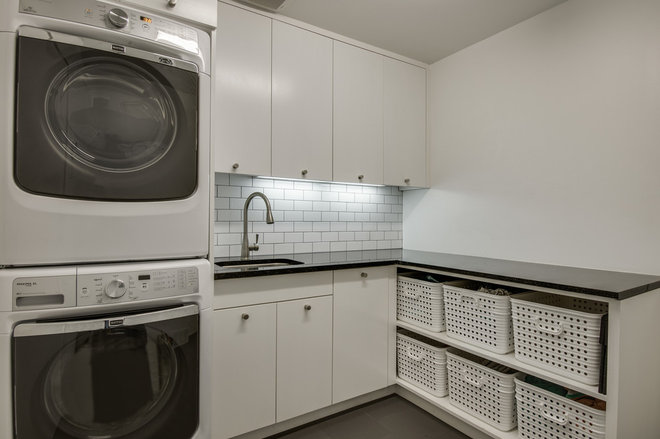 Scandinavian Laundry Room by Thomas Development + Construction