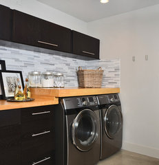 modern laundry room by Dawna Jones Design