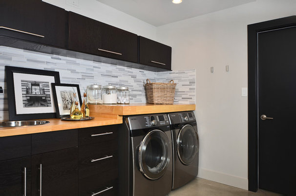 Contemporary Laundry Room by Dawna Jones Design