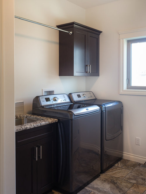 small Laundry Room Design Photos with Ceramic Floors, Cork Floors ...