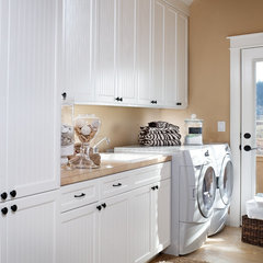 traditional laundry room by DeWils Custom Cabinetry