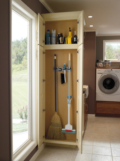 The Hardworking Laundry Room: A Place for Brooms and Mops