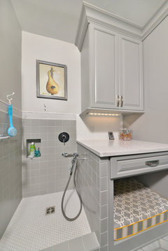 Laundry Mud Room With Toilet