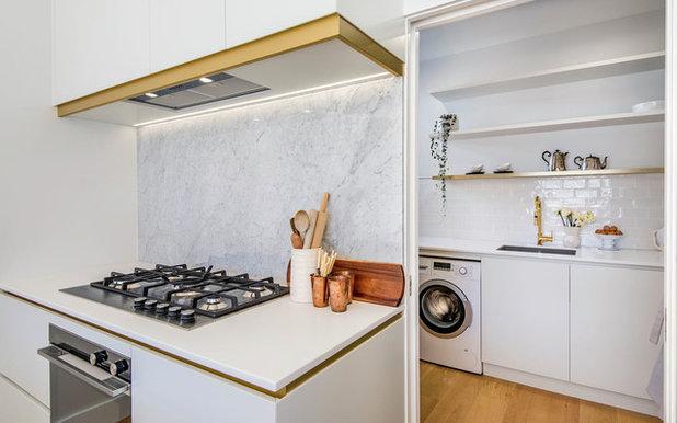 Contemporary Laundry Room by Di Legno Italian Flooring