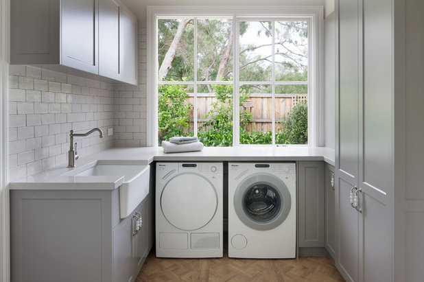 Farmhouse Laundry Room by smarterBATHROOMS+