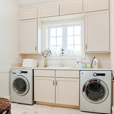 Transitional Laundry Room by Dream House Studios