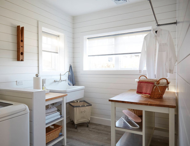 Beach Style Laundry Room by Home at 2 Design