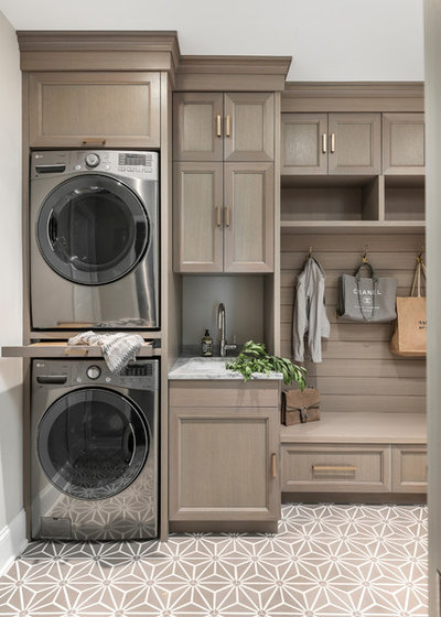 Transitional Laundry Room by Amy Storm & Company